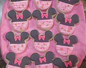 Minnie Mouse Sugar Cookie