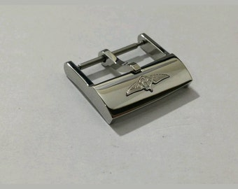 20mm breitling tang solid stainless steel buckle for 22mm breitling watch strap  Inner is 20mm will fit to 22mme breitling strap
