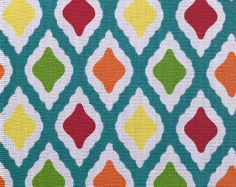 Diamonds Turquoise (Outdoor Fabric By The Yard)