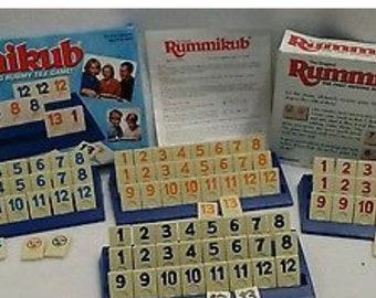 Vintage 1997 The Original Rummikub Game by Pressman Complete with tiles, racks and instructions