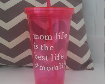 Mom life tumbler with lid. #mothersday