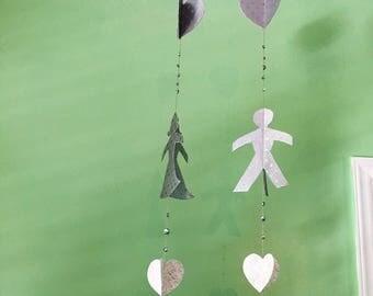 Wedding Decoration - Hanging Wedding Garland - 3D Party Decor - Luxury Paper Garland