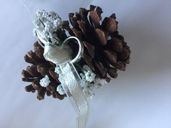 Bridal Accessory - Ring Bearer Pillow - Rustic Wedding Decoration - Wedding Ring Pillow Alternative