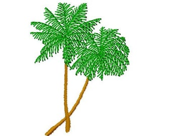 Coconut Tree Embroidery Design 2, Instant Download, 4x4 Hoop Size,  8 Formats
