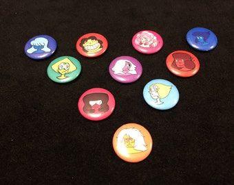1 inch Steven Universe button set