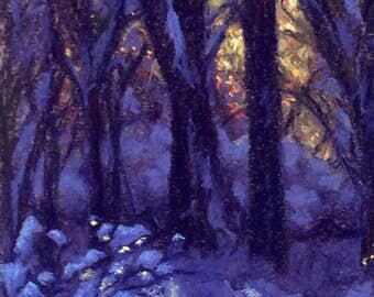 Winter Contrast - pastel artwork