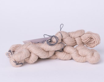 Natural undyed camel wool yarn, light brown, 50g