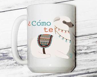 Como te Llama - Como te Llama Coffee Mug - Llama - Llama Coffee Mug - Llama Mug - Coffee Mug - Cute Coffee Mug - Funny Coffee Mug