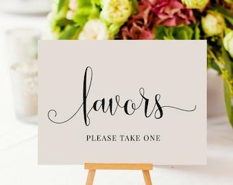 Favors Sign, Wedding Favors Sign, Please Take One, Wedding Sign, Reception Sign, Favors, Wedding Printable, PDF Instant Download, MAM208_08