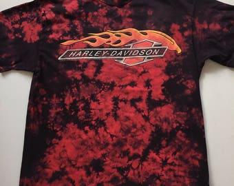 Harley Davidson Tie Dye 1990s vintage t shirt size Medium