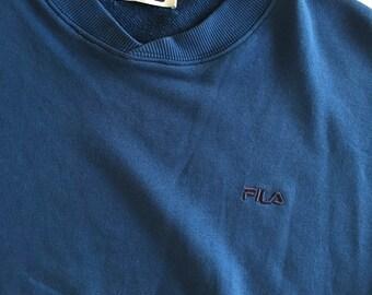 Vintage FILA sweatshirt 1990s blue size Medium