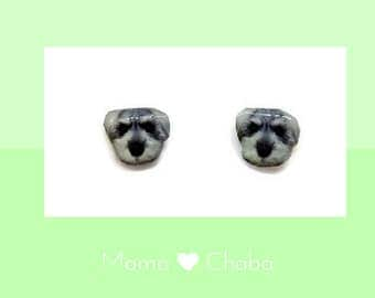 Miniature Schnauzer Earrings with Free Gifts, Dog Earrings, Kawaii jewelry, Ready to Ship, Birthday Gift