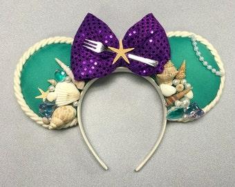 Ariel Little Mermaid Inspired Mickey/Minnie Ears