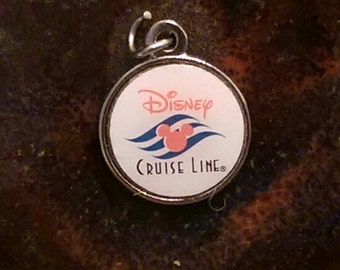 Vintage Sterling silver plated Disney cruise line bubble charm or pendant