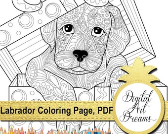 Dog coloring book Etsy