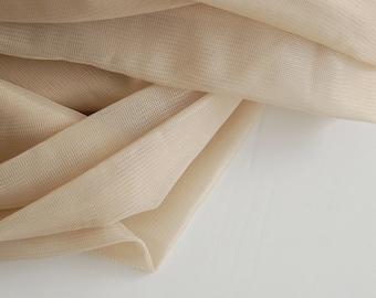 Nude Sheer Lining, Sheer tricot, Sheer Nylon, Bramaking lining