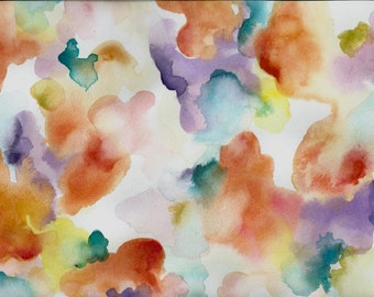 Floral Watercolor Design--One of a Kind, Original