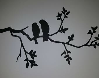 6 large die cuts birds on branches. Ideal for card making, scrapbooking or even fairy jars
