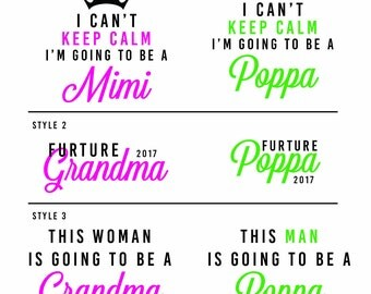 Grandparent Iron-on and Stick-on Decals