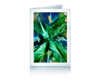 Greeting card green Galaxy