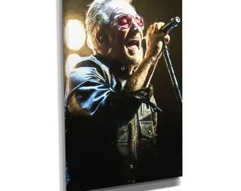 Bono U2 Rock Music Canvas Wall Art