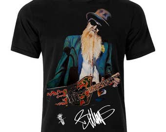 ZZ Top Billy Gibbons Signature Series Unisix T-Shirt Unique Gift