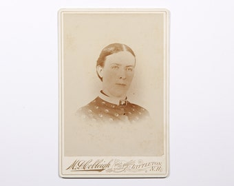 FREE SHIPPING: Antique Vintage Cabinet Photo - Photograph of Woman from Littleton, New Hampshire
