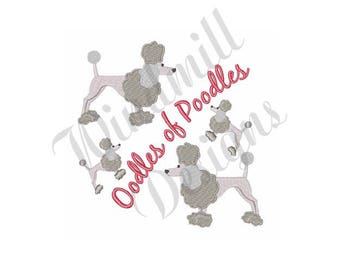 Oodles Of Poodles - Machine Embroidery Design