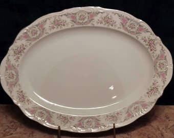 Style House Fine China. Style House Pompadour Large Serving Platter
