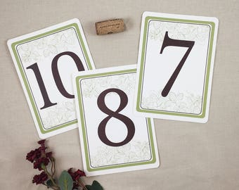 Barley and Hops Brewery Wedding Flat Table Number Signs - TE1
