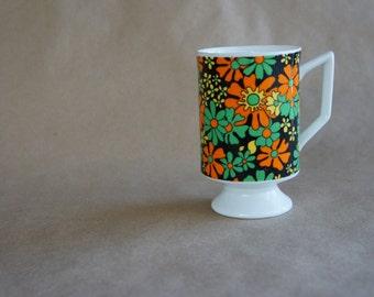 Rare Mid Mod Smug Mugs Royal Crown Arnart Mexican Garden by Pia
