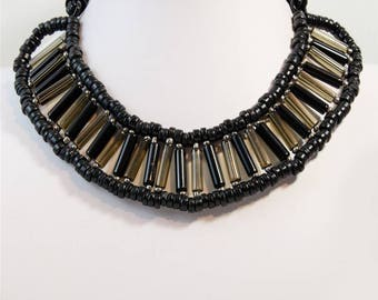Black Statement Choker Necklace