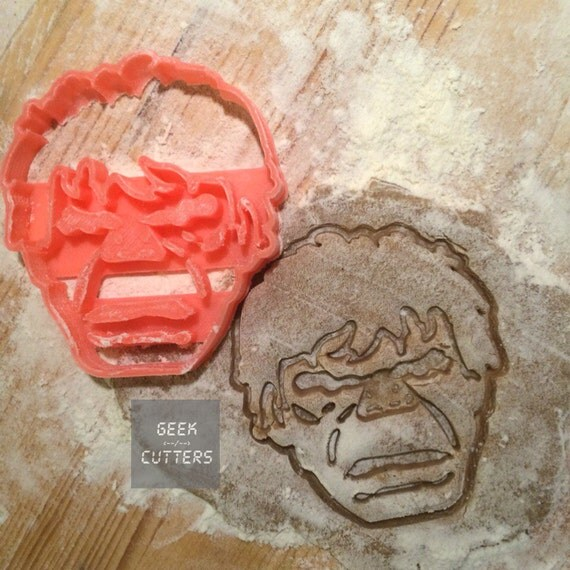 Hulk Cookie Cutter - Fondant, Backing Mold, 3d printed, Cookiecutter