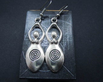 Mother Goddess earrings into handmade box