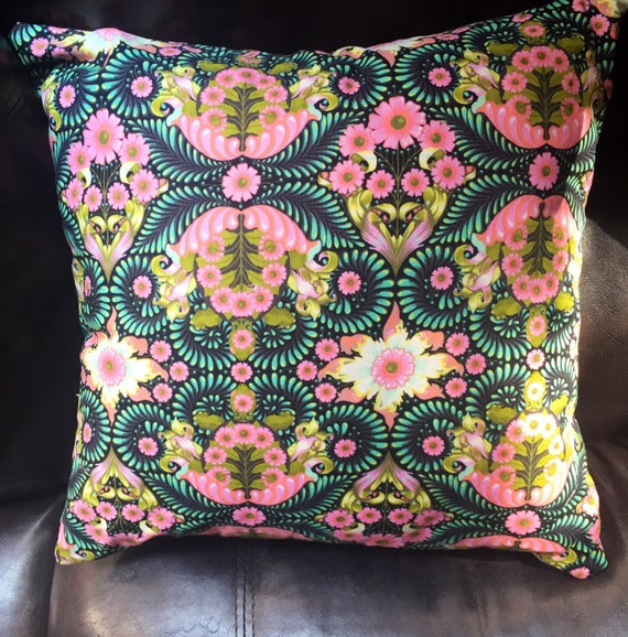 Bohemian Pillow cover with Pink and Green