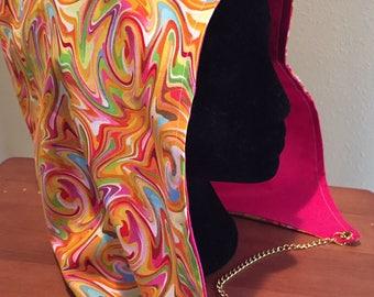 Trippy Swirl Festival Hood - Orange
