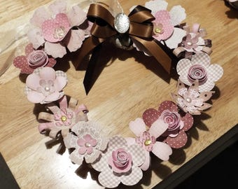 Floral Wreath Heart Wall Hanging - flowers unique quality special bespoke novelty UK