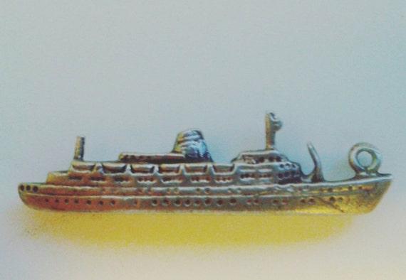 Statendam Cruise Ship charm/pendant sterling silver vintage