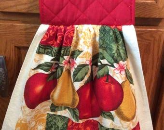 Hanging kitchen towel, Towel, Fruit Towel,  Red towel