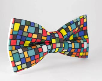 Toddler bow ties, Puzzle bow tie, Rubik bow tie, Cube bow tie, Children ties, Smart bow tie, Prom Bow Tie, Colored BowTie Geek gift Nerd tie
