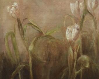 Tulips Original, Floral, Flowers, Oil Painting