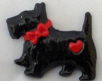 Vintage-Style Dapper Black Scottie Dog Brooch