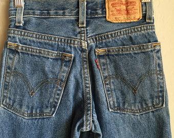 Vintage Levi's High Waisted Kid Jeans Sz 8 Slim