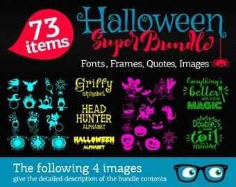 Halloween svg Bundle cut files Halloween Fonts Svg, Scary Bundle quotes, Monograms, Disney Silhouette Cricut Vinyl Heat Press Transfer