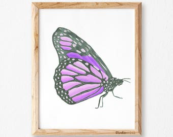 Butterfly Wall art SM, Butterfly Art Prints, Printable Butterfly, Prints of Butterfly, Butterfly Print,Butterfly Decor,Butterfly Art, purple