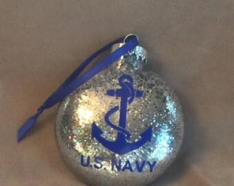 "US Navy 4"" Disc Ornament"