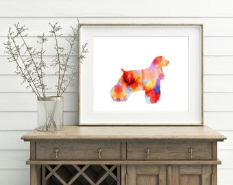Afghan Dog Art - Dog Artwork, Afghan Hound Art, Afghan Watercolor Art, Afghan Poster, Afghan Wall Art, Printable Afghan Art, Digital Art