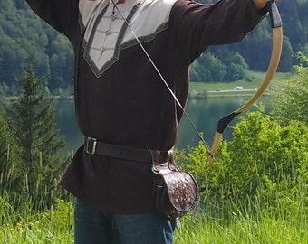 Medieval shirt Archer, from linen Archer, LARP, fantasy, nomads,