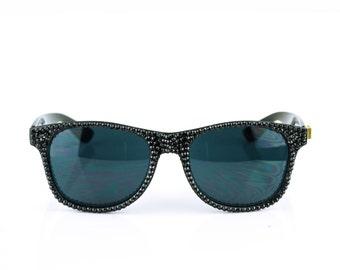 Black Studded Swarovski Crystal Wayfarer Rayban Rhinestone Sunglasses