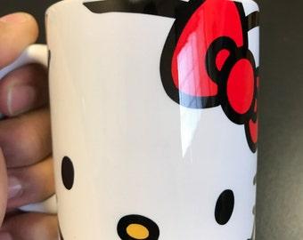Custom Made Hello Kitty 11oz or 15oz Coffee Mug